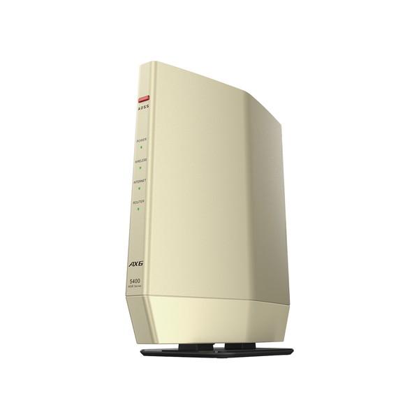 最大300円OFFクーポン配布 9月11日01:59まで 店内全品対象 バッファロー BUFFALO 無線LANルーター Wi-Fiルーター AirStation 送料無料お手入れ要らず WSR-5400AX6S-CG g ac WSR5400AX6SCG b 無線LAN規格:IEEE802.11a ax シャンパンゴールド 在庫一掃売り切りセール n 4981254058732