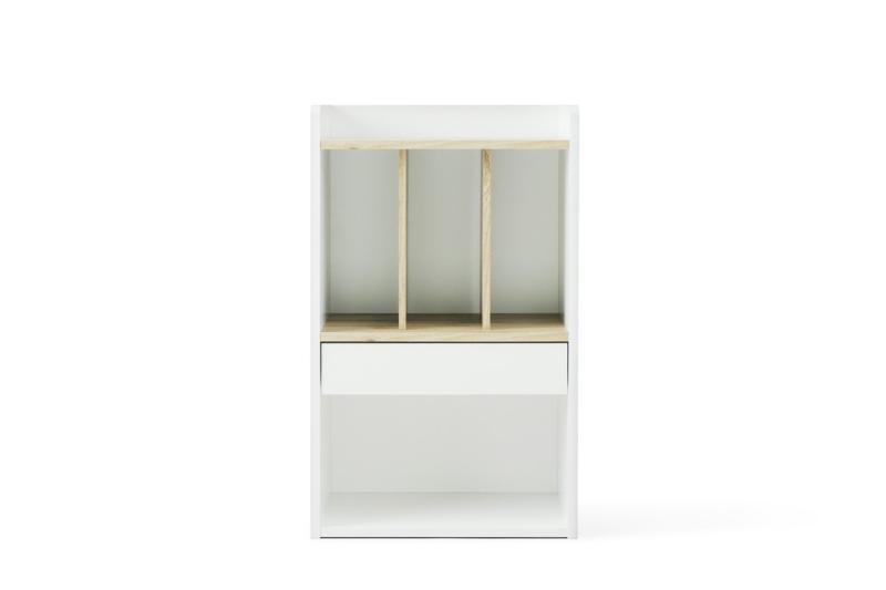 アイリスオーヤマ 子ども用本棚 ランドセルラック アッシュブラウン トレンド 46×28.7×76.3cm 送料込 RRK-460 ホワイト