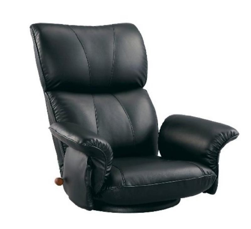 宮武製作所 スーパーソフトレザー座椅子 -匠- ブラック YS-1396HR BK -お取り寄せ品-【北海道沖縄離島は配送不可】