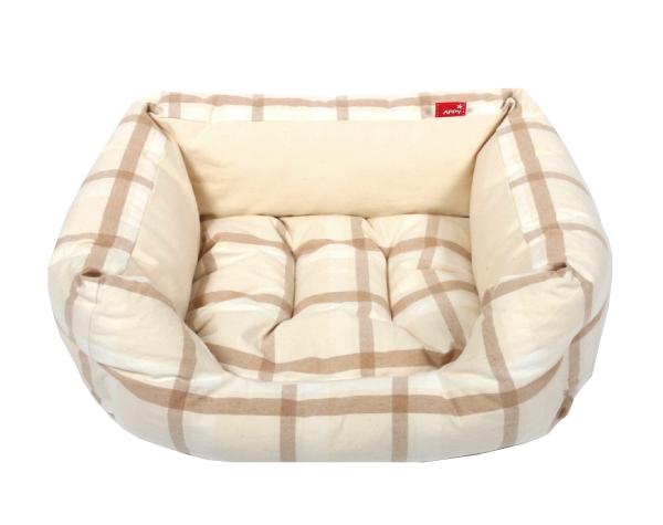 春夏に最適な商品 犬のベッド 猫のベッド 送料無料 新作製品、世界最高品質人気! 春夏多色チェックスクエア型 国内正規総代理店アイテム 一体型 S 犬猫共通商品 オーガニックコットン