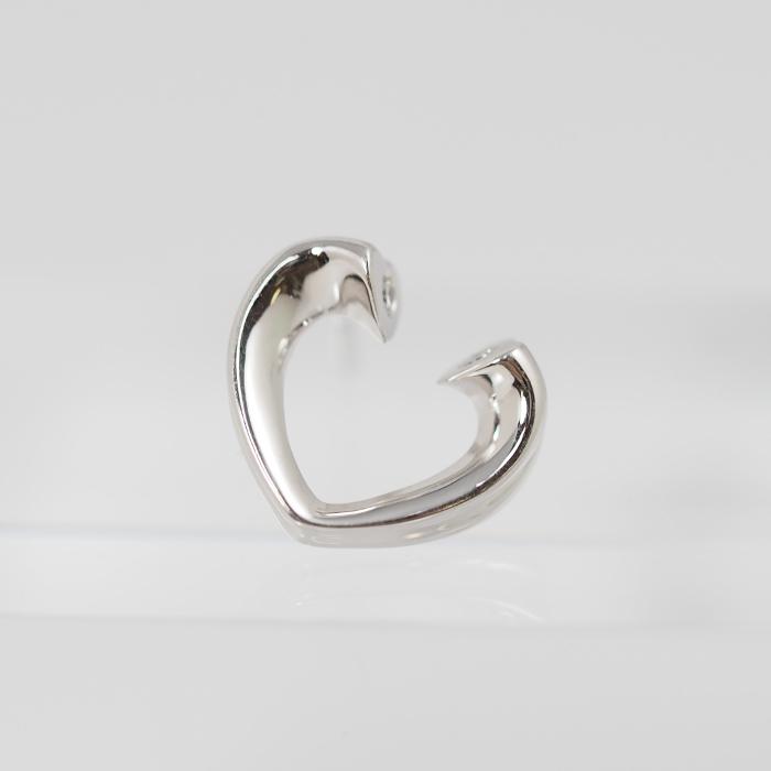 Tiffany Co. ティファニー K18ホワイトゴールド ダイヤ テンダネス 中古 ピアス ハート 安心の実績 高価 買取 強化中 本店 片耳用 キャッチなし