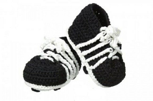 81251f9ce69 For Jefferies socks Jeffries socks newborn baby ceremony booties soccer  shoes handmade Cloche knitting boy baby four circle shoes celebration  taking a ...