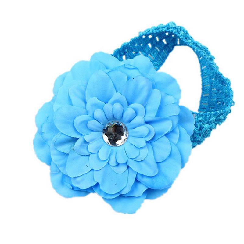 47507340b ... Flower design hair band white flower clip baby kids ' accessories ...