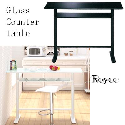 カウンターテーブル バーカウンター 自宅 カウンター テーブル 家具 120幅 120 北欧 モダンテーブル ブラックガラス ガラステーブル スタイリッシュ ロイス