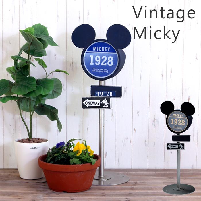 ガーデンライト ソーラー 屋外 野外 置き型 led ソーラーライト 玄関ライト ディズニー Disney オーナメント ヴィンテージ アメリカン 標識 ミッキー 防雨仕様