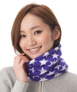 Warm wide neck warmer [man and woman combined use] Neck warmer] 1455