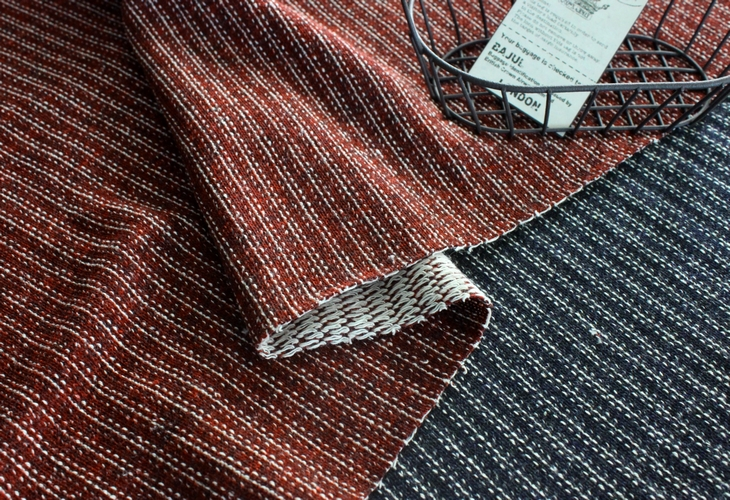 apuhouse fabric knit of the stripe pattern that is rare by cloth
