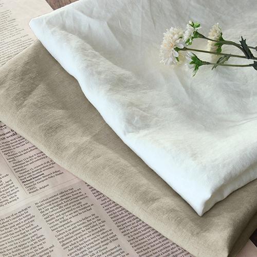 【反物販売】洗いをかけた 40/1番手 高密度ベルギーリネン オーバーダイドウォッシュ加工■目の詰まった織りで透け感も気にしない♪