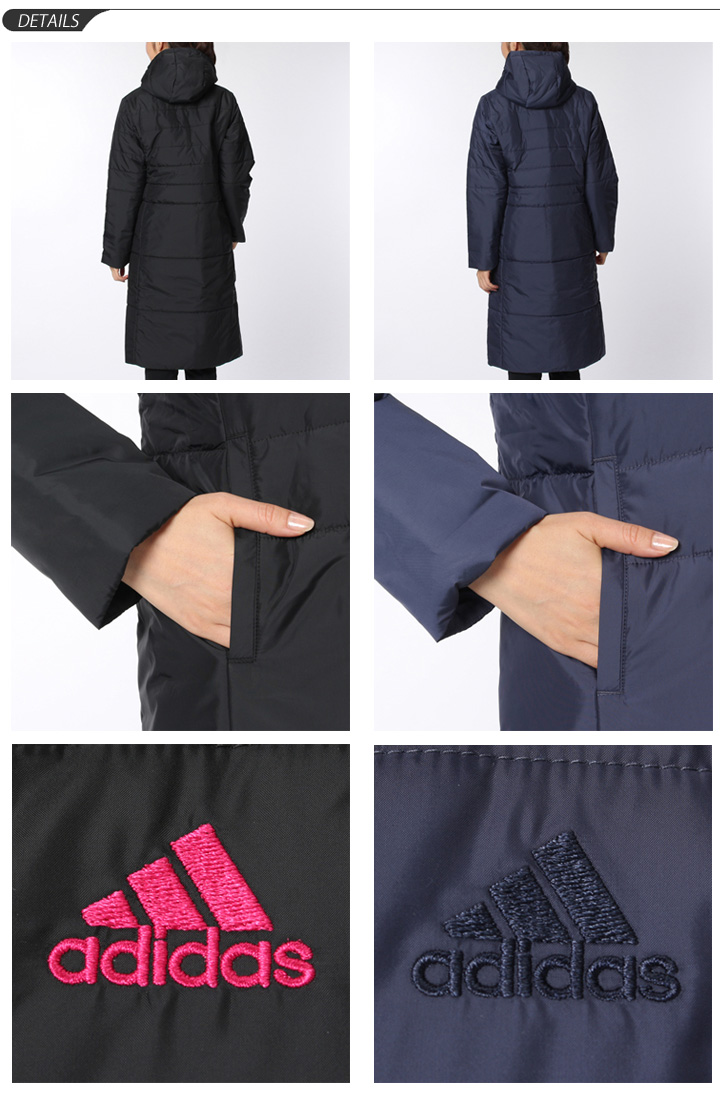 Ladies long coat bench coat jacket outerwear adidas adidas apparel sports  ladies women running  BCZ36 471a77428