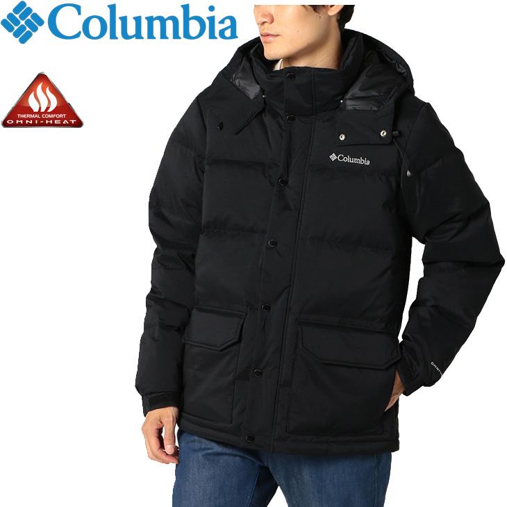 コロンビア アウトドアウェア 【全P5倍★11月23日(月)限定】ダウンジャケット コート Rockfall Columbia/防寒 カジュアル 男性 上着 Jacket メンズ アウター /WE0995 フード付き Down