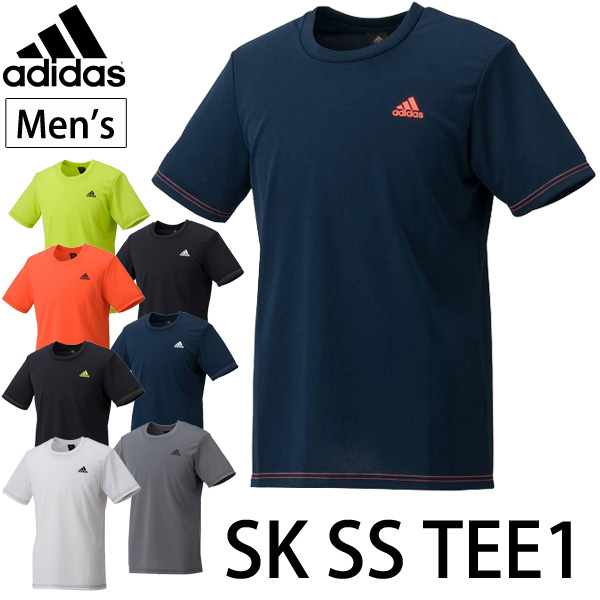 16SS RKapBUW14 for Adidas adidasSK SS TEE1 one point logo men short sleeves T shirt running training gym fitness club activities gentleman, the