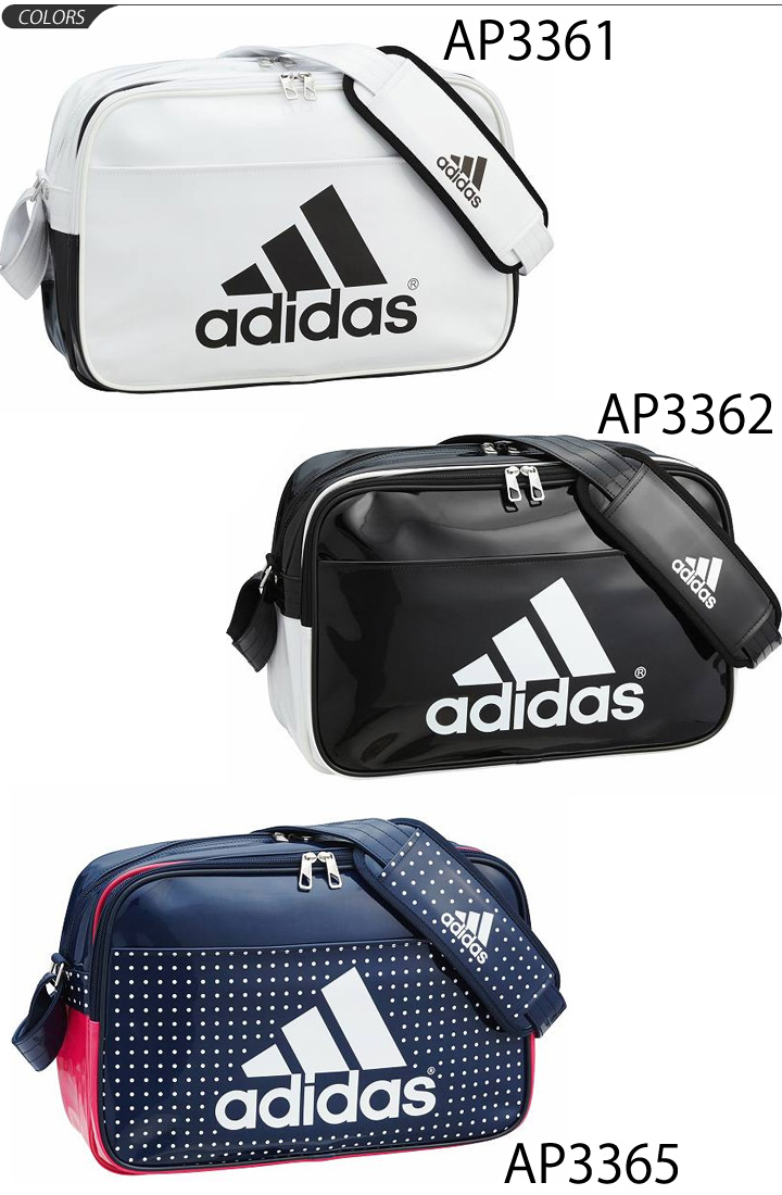 48d10f3ea7 APWORLD  Enamel bag adidas adidas M size sports bag shoulder bag ...