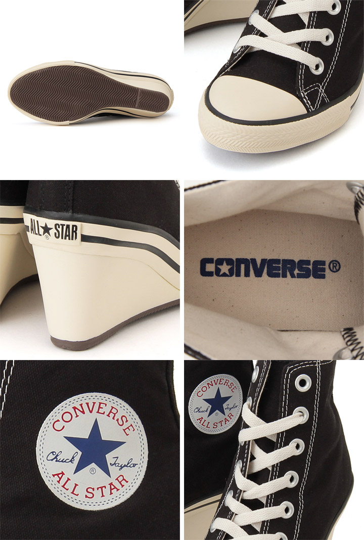 b39deae33843d8 Converse converse ALL STAR all-stars wedge HI  Lady s sneakers heel  sneakers wedge sole heel casual shoes zipper sushi Stars  WEDGEhi