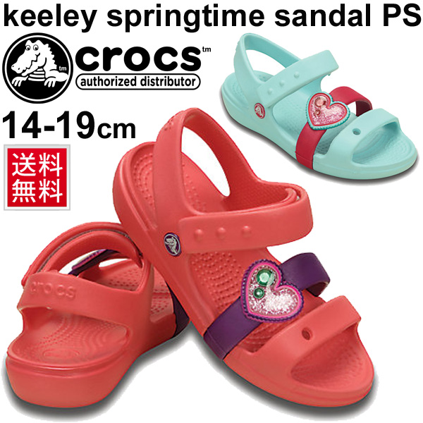 2fe2eb098 Cute Crocs kid s Sandals crocs Keeley spring time Sandals PS baby Sandals  kids shoes girls girls glitter heart ornament charm broker CROCS  202614 05P03Sep16