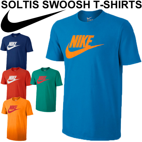 7bd04bad47d Men's T shirts NIKE Nike Soltis Swoosh T shirt short sleeve sportswear  swash logo print men's   men's running gym training Tee tops   807930    05P03Sep16