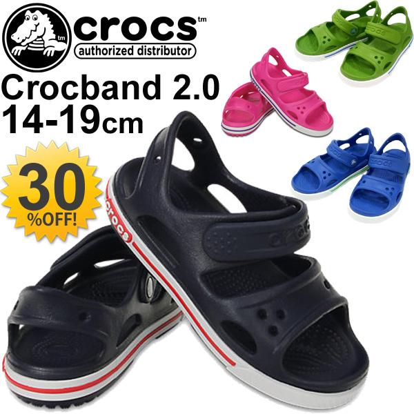 1d615b29d924 APWORLD  Kids Crocs crocs clock band sandal crocband 2.0 sandal PS cross  light Beach Sandals shoes children kids shoes broker CROCS 14854 05P03Sep16  ...