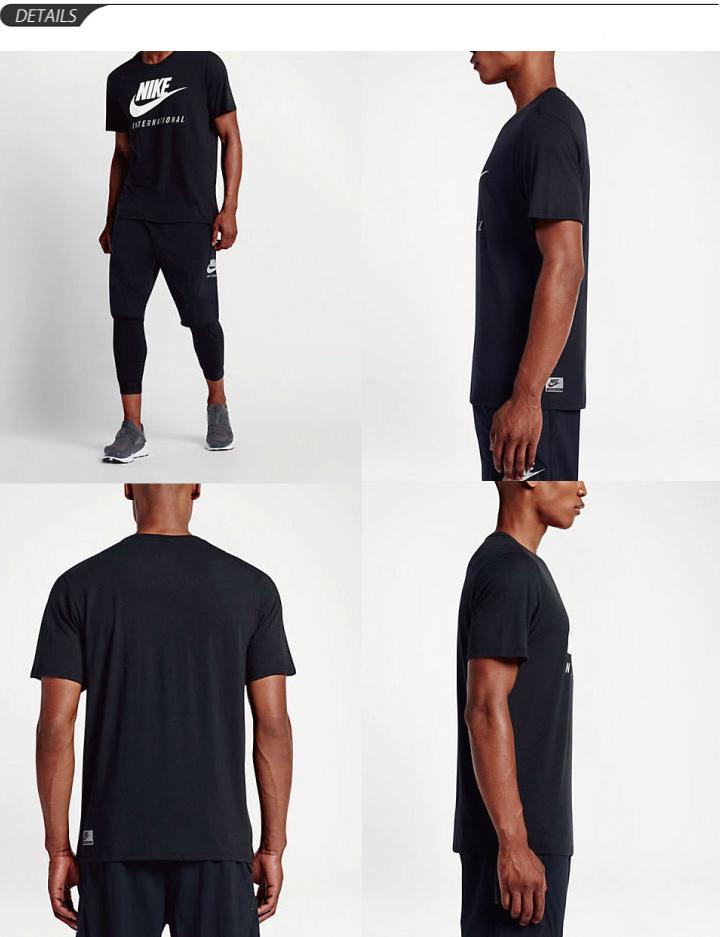 4414a8916 ... Men's NIKE INTERNATIONAL international dot T shirts crewneck short  sleeve sportswear big logo print men's ...