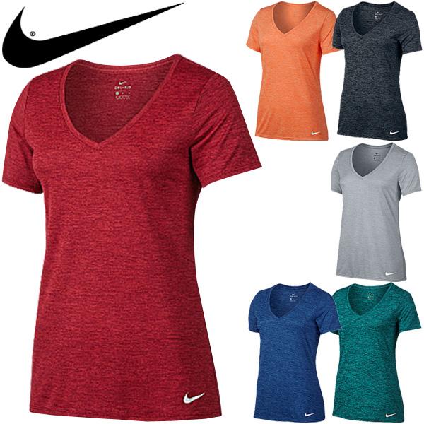 41371197 APWORLD: Nike NIKE Womens T shirt short sleeve t-shirt V neck gray ...