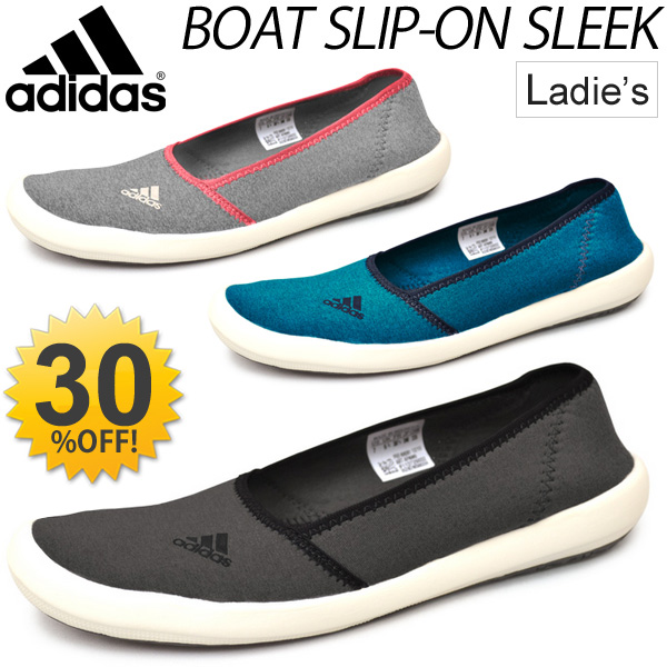 0cf74ae80941 APWORLD  adidas Adidas Womens boat slip-on SLEEK sports Sandals ...