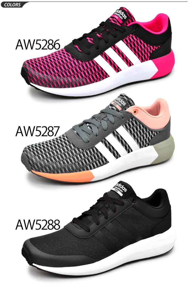 Adidas adidas neo Label women's sneaker shoes cloud form CLOUDFOAM RACE W  running shoes walking casual women's mesh lightweight cushioning ...