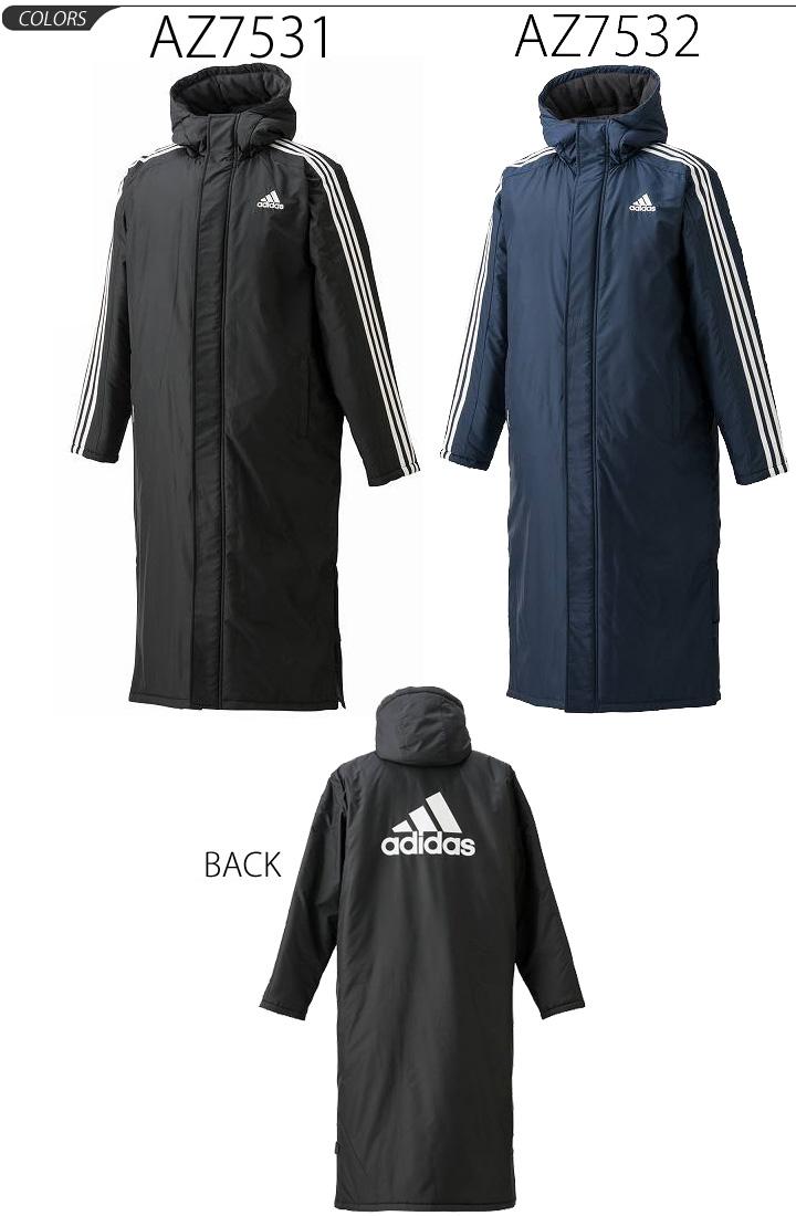 APWORLD: Adidas adidas / mens bench coat 3 stripes long