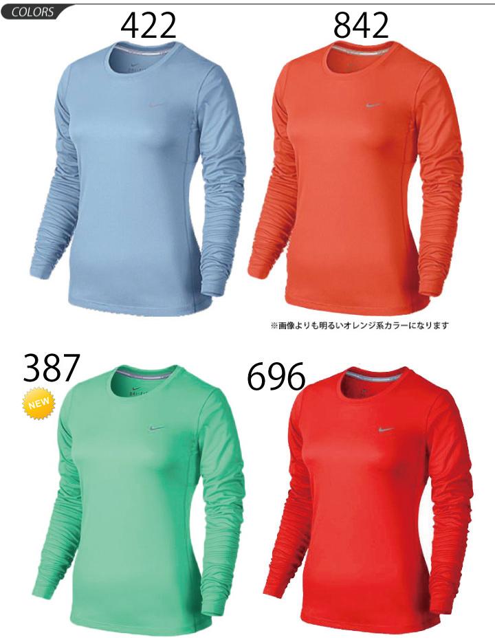 fbf4318ee74 ... Women's running Mylar T shirt dryshats shirt nike DRI-FIT crew neck long  sleeve ...