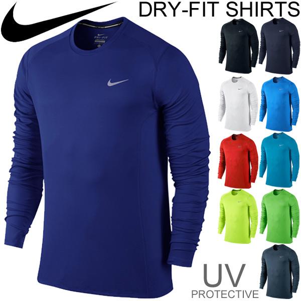 17075b05357c Men s dry T shirt running T shirt Marathon Nike NIKE long sleeve T shirt    gym training Mylar   683571