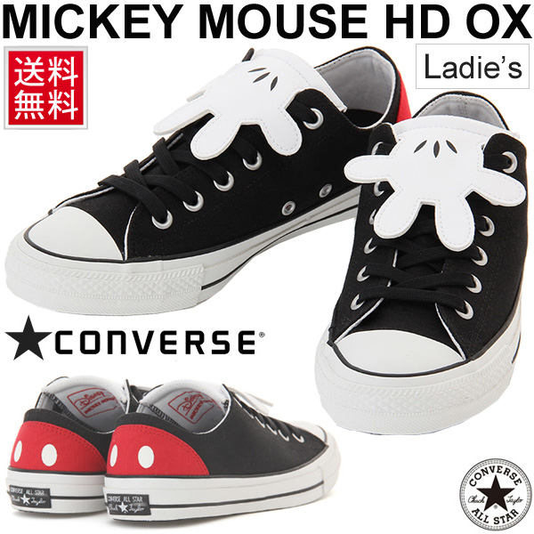 8a79c3af39e9 ALLSTAR100 woman shoes 1CK591 shoes regular article  MickeyMouseHDOX of the  100th anniversary of the sneakers Lady s Converse all-stars Mickey Mouse ...