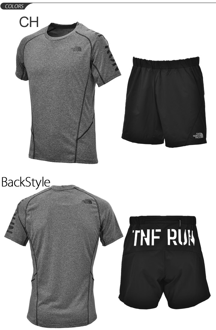 f54aace38 Two points of running T-shirt short sleeves shirt half underwear men set  THE NORTH FACE the North Face marathon jogging training gym man sportswear  ...
