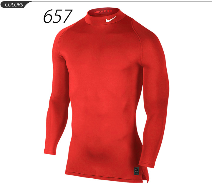 ed09f8941b ... Nike Pro NIKE PRO men's undershirt compression training shirt mock long  sleeve 703091 ...