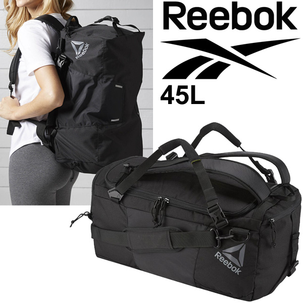 Duffel bag backpack Reebok Reebok one series convertible back 45L men s  lady s sports bag BK6430 unisex Boston bag  BXF10 2ad98c239d4