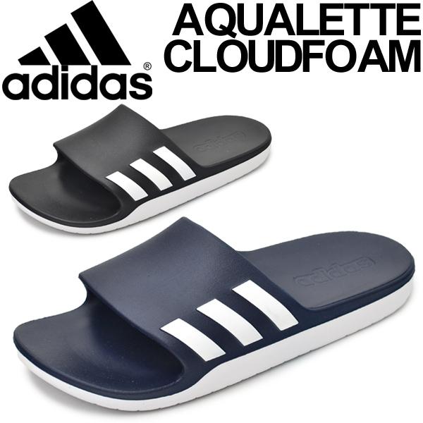 competitive price 8edbc f05f1 Shower sandals sports sandals Adidas adidas アキュアレッタクラウドフォームメンズレディース slipper  locker gym pool sea AQ2163 AQ2166AQUALETTE