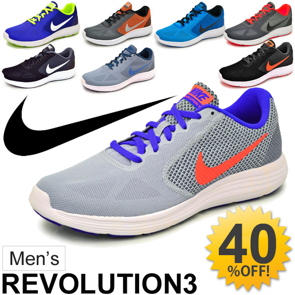 44da663e4d Nike NIKE Mens sneaker / revolution 3 NIKE REVOLUTION 3 / running shoes  training jogging gym / men's men's / lightweight athletic shoes / 819300 /  ...