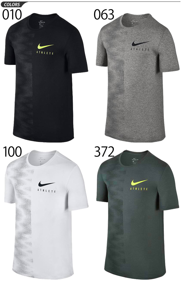 12f73463 ... T-shirt short sleeves men Nike NIKE DRI-FIT blend athlete wall print T