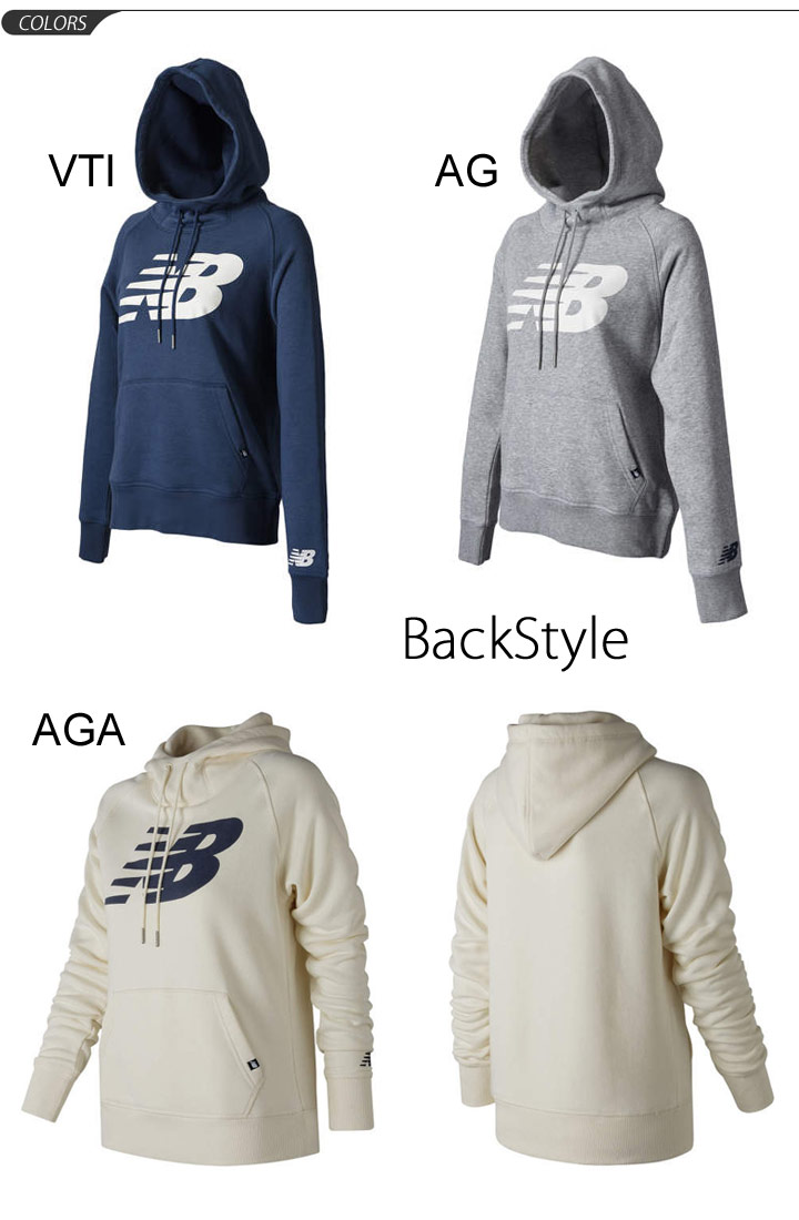 Newbalance Awt73526 Long Casual Pullover Lady's Back New Trainer Balance Sweat Sleeves Parka Tops Shirt Big For Sports Raising Logo The PwxqaP