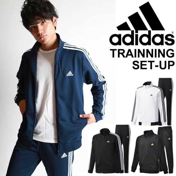 ジャージ ジャケット ロングパンツ 上下セット メンズ アディダス adidas ジムトレーニング ウォームアップ ESSENTIALS 3ストライプス スポーツウェア 男性 セットアップ 上下組/DJP56-DJP57