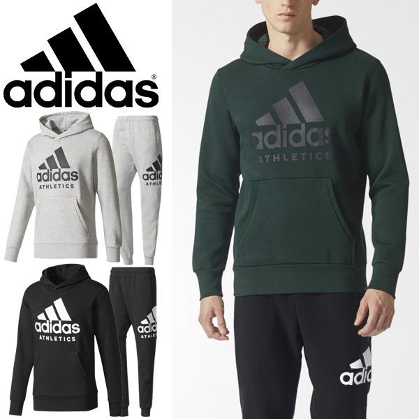 スウェット 上下セット メンズ/アディダス adidas M SPORT ID ATHLETICS ロゴ 裏起毛 プルオーバーパーカー パンツ 男性用 トレーニングウェア スエット トレーナー カジュアル ストリート スポーツウェア 上下組 /EBW85-DLF14
