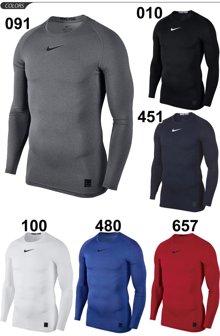 Apworld Compression Shirt Long Sleeves Men Nike Pro Combat Base Layer Sweat Crew Neck Round Man Underwear Inner Tops Sportswear 838078