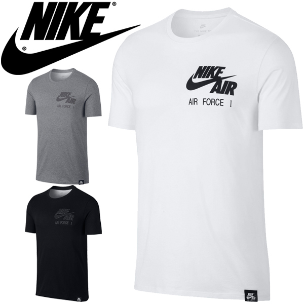 T shirt short sleeves men Nike NIKE AIR FORCE 1 print T crew neck male training sports casual street cut and sew air force 1 tops 875627
