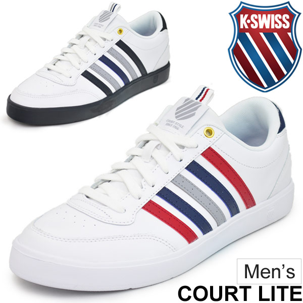 レザースニーカー メンズ ケースイス K-SWISS Court Lite CMF コートタイプ 男性 ローカット シューズ 天然皮革 軽量 05338-112/05338-136 カジュアル 靴/CourtLite