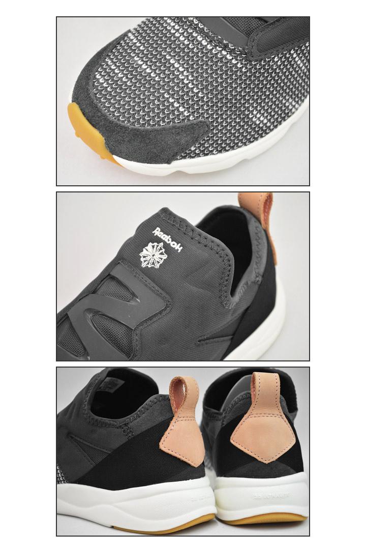 Reebok sneakers men gap Dis Reebok FURYLITE SLIP EMB EBK  フューリーライトスリッポンタイプカジュアルスポーツ MIX shoes BS6244 regular article  FuryliteSlip 1d4e34f533