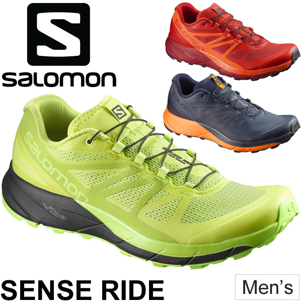 トレイルランニング シューズ メンズ サロモン salomon SENSE RIDE センスライド 男性 トレイルシューズ ローカット レース用 トレーニング 長距離ラン 靴 トレラン L398490 L398489 L394743 正規品/SenseRide