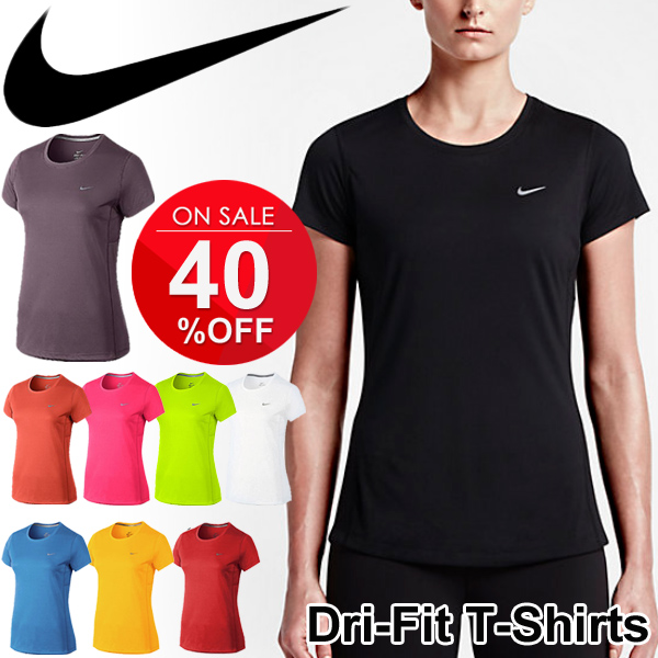 3aa526ae7 Women's running Mylar T shirt dryshats shirt nike DRI-FIT crew neck short  sleeve ...