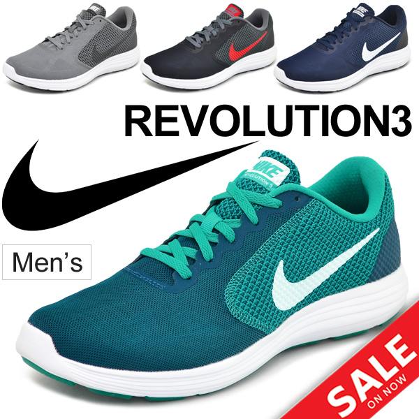 Gentleman NIKE REVOLUTION 3 light weight sports shoes /819300 for the running  shoes men /