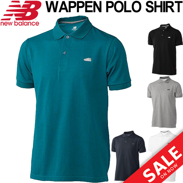 Apworld Polo Shirt Men Short Sleeves New Balance Newbalance Emblem