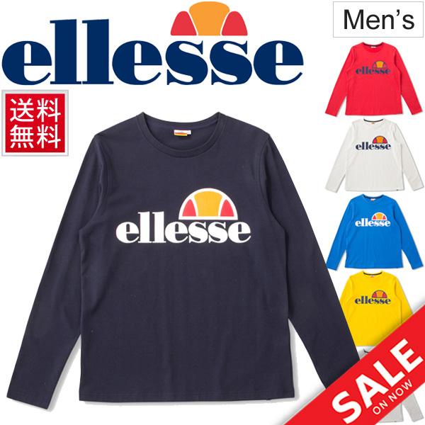 fbfc83221c T-shirt long sleeves men / エレッセ ellesse tennis logo T man crew neck sports  casual wear tops /EE17312