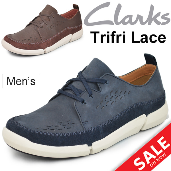 Leather shoes men zouk Lark's Clarks Trifri Lace man カジュア gentleman shoes  try fly race genuine leather nubuck leather shoes casual shoes regular  article ...
