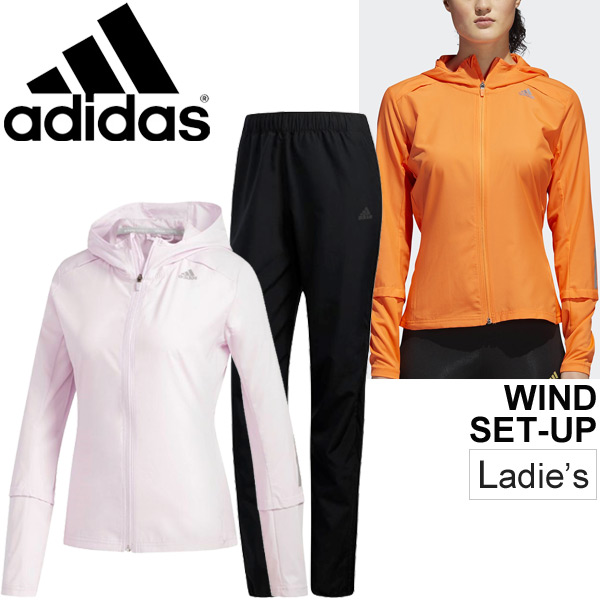 ウインドブレーカー 上下セット レディース/アディダス adidas RESPONSE ジャケット パンツ/トレーニングウェア 女性 ランニング ジム フィットネス ウインドブレイカー スポーツウェア/DJK05-ENN16