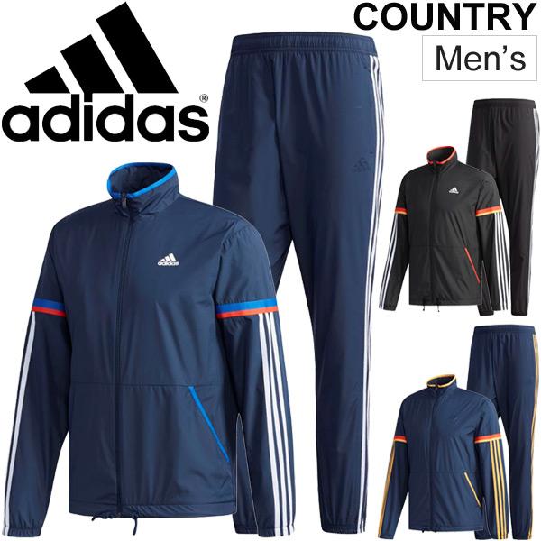 ウインドブレーカー 上下セット メンズ/アディダス adidas ESSENTIALS レトロスポーツ ジャケット パンツ/トレーニングウェア 男性 ウインドブレイカー 裏メッシュ スポーツウェア/ETZ91-ETZ90