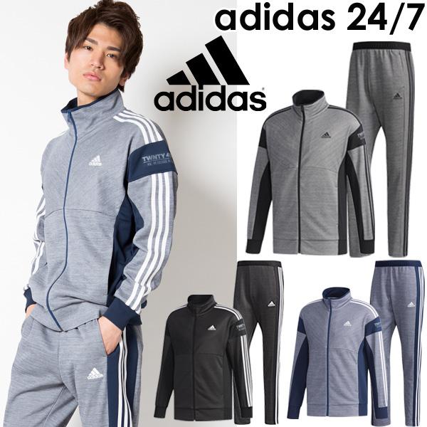 ジャージ 上下セット メンズ/アディダス adidas 24/7 マイクロボーダー ジャージ ジャケット パンツ/トレーニングウェア 男性 上下組 スポーツウェア/EUA07-EUA10
